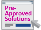Icon for pre-approved solutions